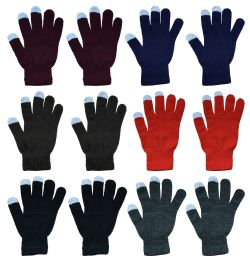 Yacht & Smith Unisex Winter Texting Gloves, Warm Thermal Winter Gloves (12 Pack Assorted)