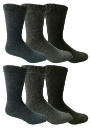 Yacht & Smith Non Slip Gripper Bottom Men's Winter Thermal Tube Socks Size 10-13