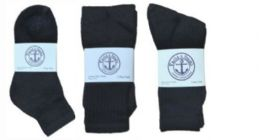 Yacht & Smith Kid's Cotton Sock Set Assorted Styles, Crew, Ankle And Tube Black