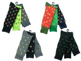 Mens Funky Printed Dress Socks, Mixed Patterns