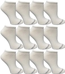 Yacht & Smith Womens 97% Cotton Light Weight No Show Ankle Socks Solid White
