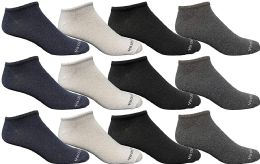 Yacht & Smith Wholesale Men's Cotton Shoe Liner Training Socks Size 10-13 (assorted, 12)