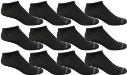 Yacht & Smith Mens 97% Cotton Light Weight No Show Ankle Socks Solid Black