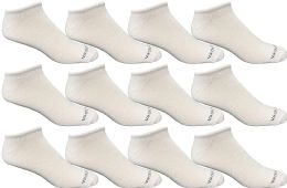 Yacht & Smith Mens 97% Cotton Light Weight No Show Ankle Socks Solid White