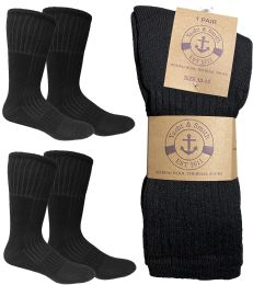 Yacht & Smith Mens Merino Wool Boot Socks With Arch Support, Cotton Wool Blend