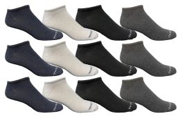 Yacht & Smith Men's Light Weight Breathable No Show Loafer Ankle Socks Solid Assorted 4 Colors