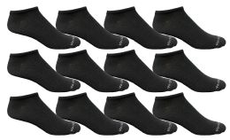 Yacht & Smith Men's Light Weight Breathable No Show Loafer Ankle Socks Solid Black