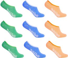 Women's Mesh No Show/silicone No Slip Loafer Sock Liner (pastel)