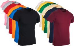 SOCKSINBULK Mens Cotton Crew Neck Short Sleeve T-Shirts Mix Colors Bulk Pack Size Small