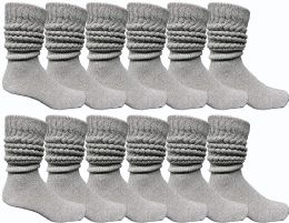 Yacht & Smith Men's Cotton Extra Heavy Slouch Socks, Boot Sock