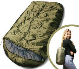 Camping Lightweight Sleeping Bag 3 Season Warm & Cool Weather Olive Green