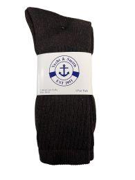 Yacht & Smith Men's Cotton Terry Crew Socks Size 10-13 Brown Bulk Pack