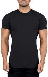SOCKS IN BULK Men's Cotton Crew Neck Short Sleeve T-Shirts Mix Colors Bulk Pack (12 Pack Black, 4X-Large)