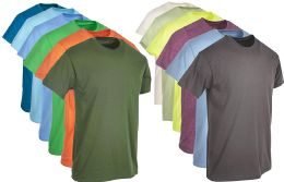 Plus Size Mens Cotton T-Shirt Bulk Big Tall Short Sleeve Lightweight Tees (6X-Large, 12 Pack Mixed Assorted Bright Colors)