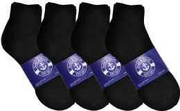 Yacht & Smith Mens Lightweight Cotton Sport Black Quarter Ankle Socks, Sock Size 10-13