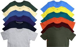 Mens Plus Size Cotton Crew Neck Short Sleeve T Shirts, Assorted Colors Size 4XL