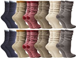 Yacht & Smith Slouch Socks For Women, Assorted Colors Size 9-11 - Womens Crew Sock