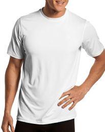 Mens White Cotton Crew Neck T Shirt Size 2XLarge