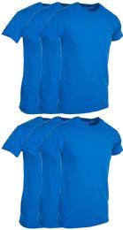 Mens Royal Blue Cotton Crew Neck T Shirt Size Small