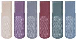 Yacht & Smith Mens Multi Purpose Diabetic Assorted Colors Rubber Silicone Gripper Bottom Slipper Sock Size 10-13