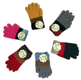 Three Color Wide Striped Gloves