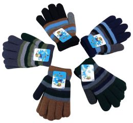 Kids Striped Gloves