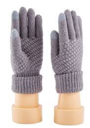 Touch screen knitted women's gloves