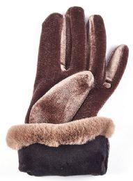 Gold Velvet Women's Gloves