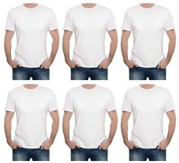 Mens Cotton Short Sleeve T Shirts Solid White Size M