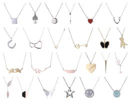 Yacht & Smith Lot Of Sterling Silver /stainless Steel Necklaces, Valentines Gift