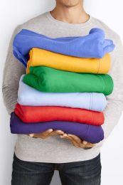 Gildan 50x60 Warm Cotton Fleece Blanket, Soft Warm Compact Travel Blanket Assorted Colors