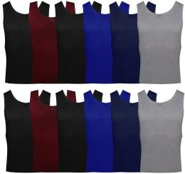 Yacht & Smith Mens Ribbed 100% Cotton Tank Top, Assorted Colors, Size 3XL