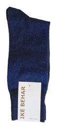 Ike Behar Men's Designer Glitter Dress Socks, Tuxedo Socks , Fits Shoe Sizes 7-12 Black Navy Sparkle