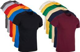 Mens Cotton Crew Neck Short Sleeve T-Shirts Mix Colors Bulk Pack Size 2X Large