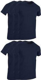 Mens Navy Blue Cotton Crew Neck T Shirt Size 2X Large