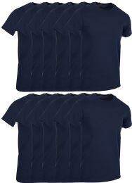 Mens Navy Blue Cotton Crew Neck T Shirt Size X Large
