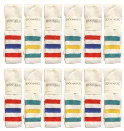 Yacht & Smith Men's 31-Inch Terry Cushion Cotton Extra Long Tube Socks- King Size 13-16