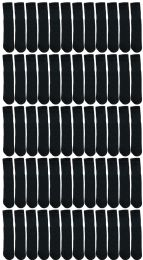 Yacht & Smith Kids Black Solid Tube Socks Size 4-6