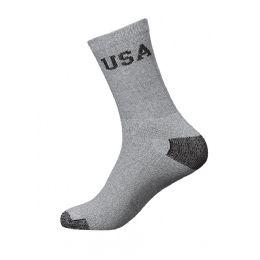 Yacht & Smith Women's Usa Gray Crew Socks Size 9-11