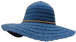 Yacht & Smith Cotton Crochet Sun Hat Soft Lace Design, Navy
