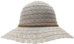Yacht & Smith Cotton Crochet Sun Hat Soft Lace Design, Rose