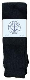 Men's Cotton 28 Inch Tube Socks, Referee Style, Size 10-13 Solid Black Bulk Buy