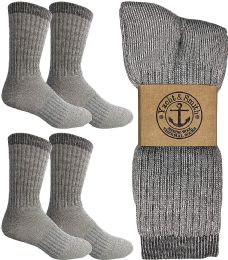 Yacht & Smith Merino Wool Socks for Hiking, Trail, Hunting, Winter, by SOCKS'NBULK (4 Pairs Gray B, Mens 10-13)