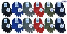 Yacht & Smith Wholesale Kids Beanie And Glove Sets (beanie Glove Set, 24)