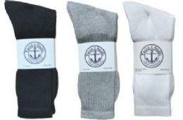 Yacht & Smith Women's Cotton Crew Socks Set Assorted Colors Black, White Gray Size 9-11 Case Set